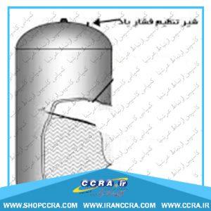 شیر تنظیم فشار هوا مخزن دستگاه تصفیه آب خانگی واتر تک
